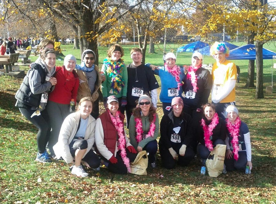 "Team ""Put a Bird On It"" after the Get Your Rear in Gear 5k"